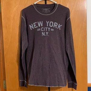 Burgundy/Purple Long sleeve Shirt